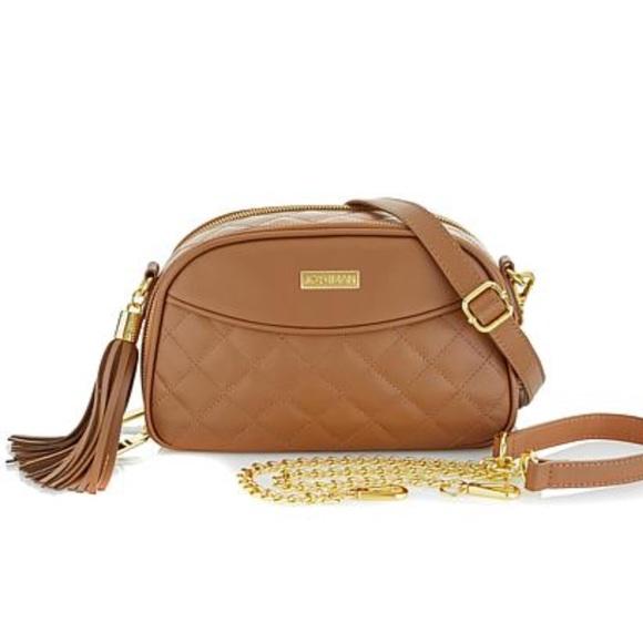 afb581704c9 JOY   IMAN Bags   Joy Iman Diamond Quilted Genuine Leather Bag ...